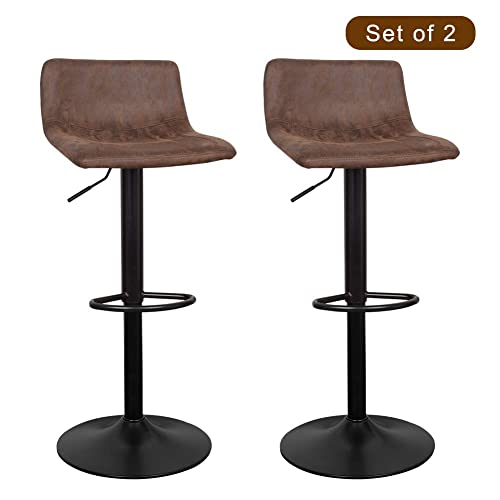 Marvelous Buy Waytrim Adjustable Bar Stools Set Of 2 Modern Swivel Machost Co Dining Chair Design Ideas Machostcouk