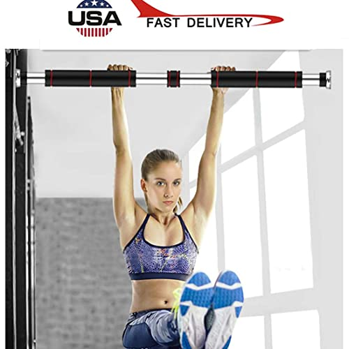 Adjustable Pull up Bar Gym Exercise Training Chin up Fitness Home Door Wall UK