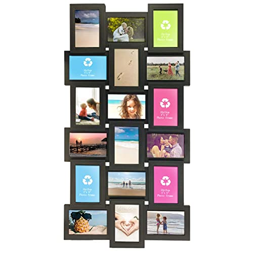 Buy Calenzana 4x6 Multi Picture Frames Collage 18 Openings Multiple Photo Frame For Wall Hanging Black Online In Vietnam B07rxqjg8h
