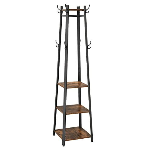 Vasagle Vintage Coat Rack Coat Stand With 3 Shelves Ladder Shelf With Hooks And Clothes Rail Metal Frame Ulcr80x Buy Products Online With Ubuy Vietnam In Affordable Prices B07hm15vqv