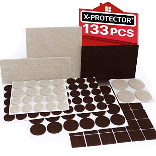 X Protector Premium Two Colors Pack, Best Furniture Pads For Laminate Floors