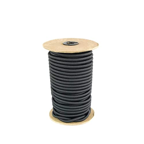 """1//4/"""" Black Shock Cord Marine Grade Bungee Tie Down Stretch Rope 100ft Power Cord"""