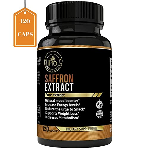 Ipro Organic Supplements 100 Pure Saffron Extract Pills 120