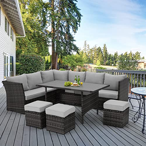 U Max 7 Pieces Outdoor Patio, Clearance Wicker Patio Furniture Sets