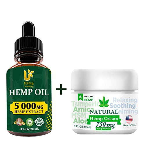 Organic Hemp Pain Relief Cream, 8000 Mg, Made in USA, Non-GMO, Natural Hemp  Extract Cream for Joint, Muscle, Back, Neck, Knee Pain with Arnica, Aloe,