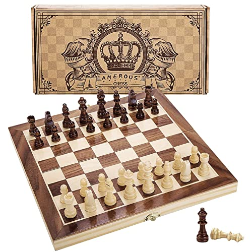 Portable Folding Magnetic Chess Set Travel Size Game Board For Kids Adults