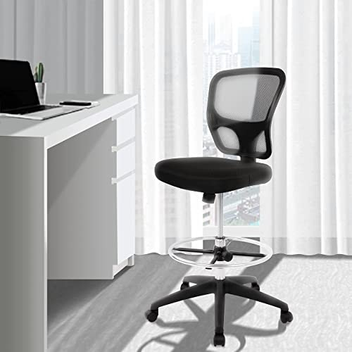 Mesh Drafting Chair Tall Office, High Office Chair For Standing Desk