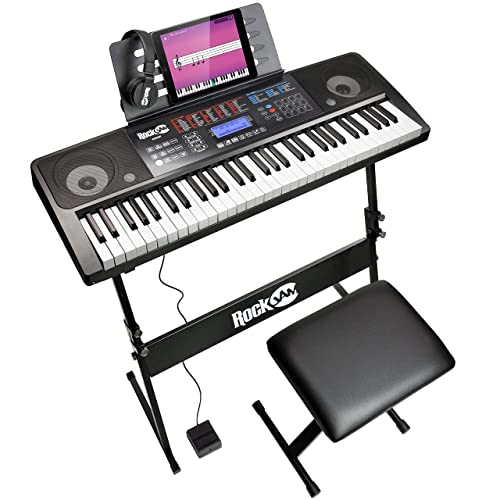 Buy Rockjam 61 Key Keyboard Piano With Touch Display Kit Keyboard Stand Piano Bench Sustain Pedal Headphones Simply Piano App Keynote Stickers Online In Vietnam B06xbzh1dz