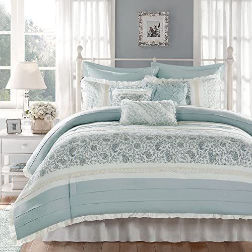 Madison Park Dawn Queen Size Bed, Queen Size Bedding In A Bag