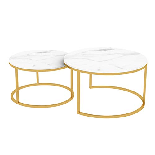 Living Room Iron Art Nested Table, How To Decorate Small Round Coffee Table