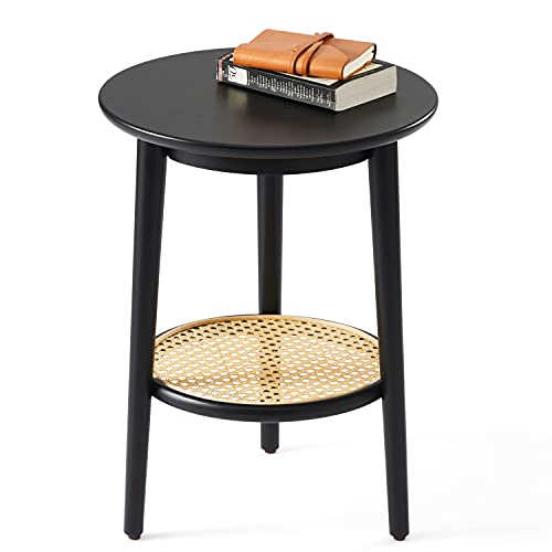 Harmati Round Side Table With, Small Round End Table