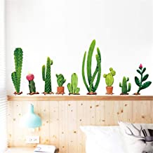 f01bd5ea7e Cactus Wall Sticker Cartoon Potted Green Plants Wall Decal Removable DIY  Cactus .