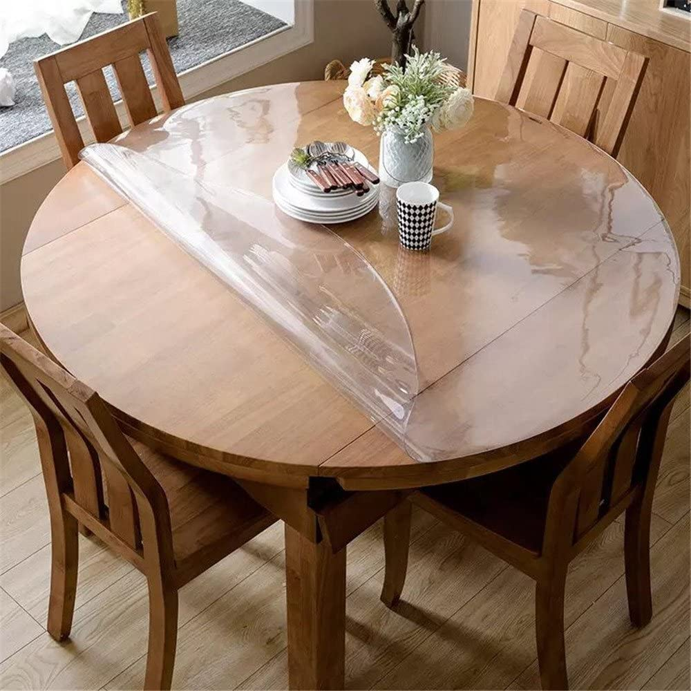 Buy OstepDecor Upgraded Version Clear Round Table Cover, 9mm Thick ...
