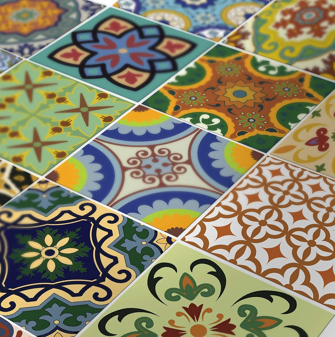Tile Stickers 24 Pc Set Traditional, Tile Decals For Bathroom
