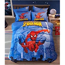 Peachy Baby Featuring Spider Man Spiderman Bedding Set Single Queen Twin Full Size 100 Cotton Free Express Shipping Blue Cool Marvel Cartoon Superhero 3 And 4 Pieces Bed Sheets Queen Size Buy Products