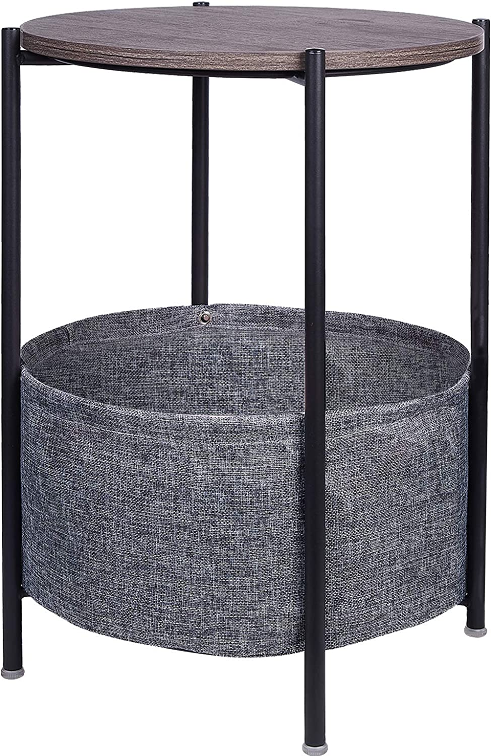 Jane Eyre Round Side Table With, Round End Tables With Storage For Living Room