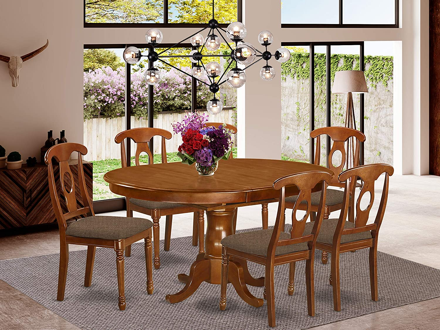 Buy 9 Pc Dining room set and Oval Dining Table with Leaf and 9 ...